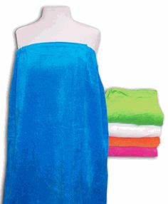 Plus Size - Womans Terry Velour Spa Wrap 5 Colors to choose from