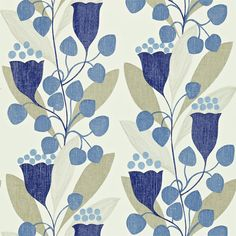 Sanderson - Traditional to contemporary, high quality designer fabrics and wallpapers | Products | British/UK Fabric and Wallpapers | Bellflower (DCFL211652) | Colour for Living Wallpapers