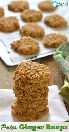 Paleo Ginger Snaps Recipe (dairy free, grain free, gluten free) | https://www.grassfedgirl.com/paleo-ginger-snaps-recipe-dairy-free-grain-free-gluten-free/
