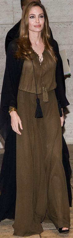 Angelina Jolie in Saint Laurent S13 at 2013 Women in the World Summit