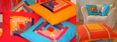 Brighten up any room with these wonderful colours. We have a wide range of large floor cushions, patchwork cushions, bunting, napkins and tablecloths Large Floor Cushions, Patchwork Cushion, Cushion Covers, Bunting, Beach Towel, Bean Bag Chair, Colours, Flooring, Room