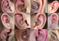 A few examples of daith piercings and the jewellery styles available :) All pierced at Origin Arts, be sure to visit a safe, friendly and professional studio for your piercings