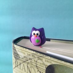 Owl Paperclip Bookmark 1 Polymer Clay Bookmark by MadebyIzzyGifts