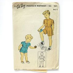 Boy's Suit Pattern / RARE Toddler Top and Shorts / by SelvedgeShop