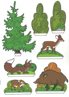 Handicraft sheet: Fix and Foxi Nature Park - Kaukapedia Forest Animals, Woodland Animals, Preschool Activities, Activities For Kids, Illustrated Words, Paper Doll House, Autumn Crafts, Vintage Paper Dolls, Woodland Creatures