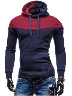 GET $50 NOW | Join RoseGal: Get YOUR $50 NOW!http://www.rosegal.com/mens-hoodies-sweatshirts/kangaroo-pocket-color-block-hoodie-773641.html?seid=6974103rg773641