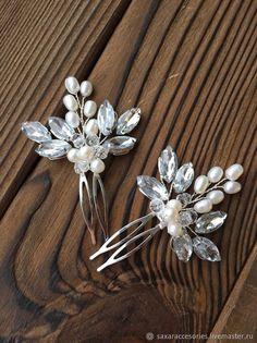 Source by carojofre Accessories Ear Jewelry, Wedding Jewelry, Beaded Jewelry, Handmade Wire Jewelry, Hair Beads, Crystal Brooch, Wedding Hair Accessories, Bridal Hair, Bridal Headpieces