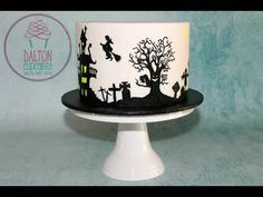 Spooky Silhouette Cake - How To - YouTube