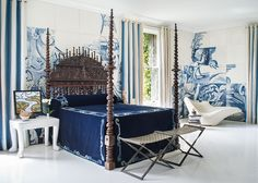 Portuguese Bilros Bed / 2014 San Francisco Decorator Showcase / Residential / Master Bedroom / Antonio Martins Interior Design - San Francisco, CA