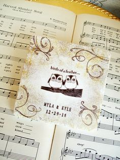 Owl Coasters Personalized Wedding CoastersTwo Owls Wedding