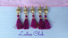 How to Make Saree Kuchu/Tassels using Beads Design - 7 I Detailed Tutorial. Saree Kuchu Designs, Saree Tassels, Ladies Club, Silk Thread, Tassel Necklace, My Design, Projects To Try, Bridal, Beads