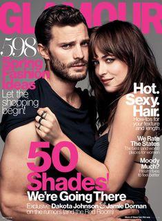 """Les stars de Cinquante Nuances de Grey racontent le tournage de leurs scènes """"hot"""" à Glamour  Dakota Johnson, Jamie Dornan, Glamour"""