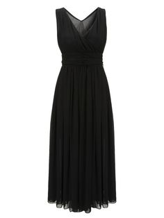 Sale 24% (22.5$) - Woman Bohemian Solid Color V-Neck Sleeveless Chiffon Maxi Dress