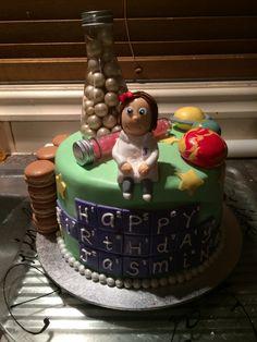 Cute Girl Scientist Cake