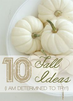 Simply Klassic Home: 10 Fall Ideas I am Determined to Try! Some really great fall DIY home decor ideas