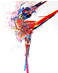 Dance Ballet Dancer drawing-Abstract
