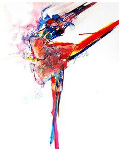 Dance Ballet Dancer drawing-Abstract