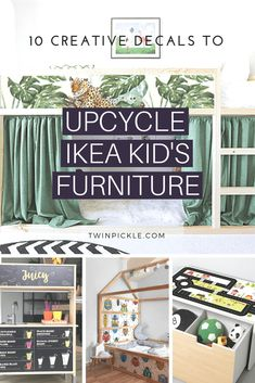 10 Creative Decals to Upcycle IKEA Kids Furniture Etsy