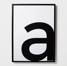 Typography Print Art - Lowercase