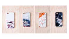 Agate/marble iPhone cases. WANT. ($32)