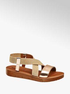 ca6d831f7838 Sandále značky Graceland vo farbe zlatá - deichmann.com