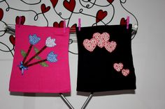Camisetas decoradas con apliques en tela, patchwork, corazones, flores, lentejuelas, pintura sobre telas, chicas,mujeres