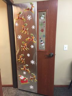 """Santa's Sleigh"" Christmas Door Decorating Contest, Christmas Decorations, Santa Sleigh, Doors, Home Decor, Decoration Home, Room Decor, Christmas Decor, Ornaments"