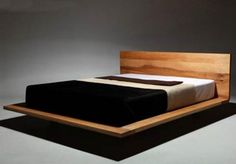 Cama minimalista de madera