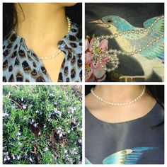 Spring is truly in full swing in Dublin. A walk is Stephen's Green signals exactly that: A few refreshing looks made even better by pearls. Pearl Necklace, Crochet Necklace, Pearls, Spring, How To Wear, Jewelry, Style, String Of Pearls, Swag