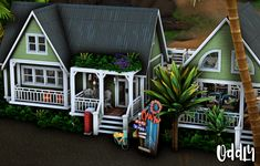 Sims 4 Modern House, Sims 4 House Design, Play Sims 4, Small Beach Houses, Sims 4 House Plans, Sims 4 Collections, Casas The Sims 4, Inside Garden, Sims Games