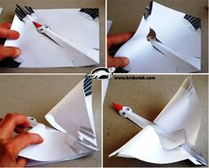 Paper stork creation for movie night activities - A unique movie night theming idea from Southern Outdoor Cinema Origami Toys, Origami And Quilling, Origami Paper, 3d Paper Crafts, Paper Toys, Diy Crafts, Craft Activities For Kids, Preschool Crafts, Crafts For Kids
