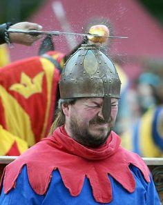 Great Z nftiges Vergn gen bei einem Ritterfest auf dem Gel nde der Zitadelle in Spandau