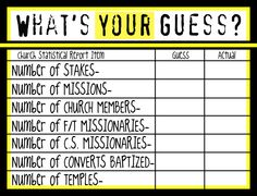General Conference Games & Activity IDEAS - Something for every session!
