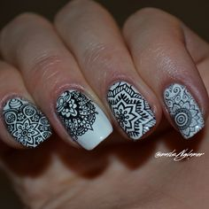 Mandala inspired nails