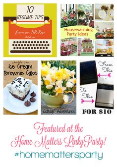 This week's features over at the #HomeMattersParty are AWESOME!!! Check them out and join us!