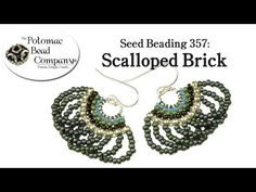 ▶ Seed Beading 357 - Scalloped Brick - YouTube
