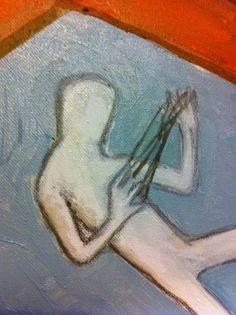 Particolare- Venezia é un bivio, quadro olio su tela di E. Remoto