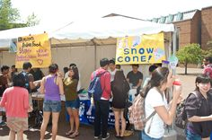 Lambdas make #bank as they sell over hundreds of snow cones for the Asian Student Commission's Bite of Asia event. The frozen desserts were a perfect complement to the sunny weather.