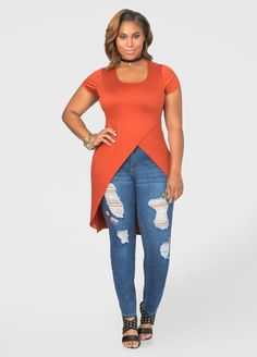 Shop women's plus size tops, plus size shirts, sexy sequin tops & Trendy Sweaters. Find plus size tops from dressy to crops, all fit to flatter curves! Curvy Women Fashion, Plus Size Fashion, Womens Fashion, Summer Outfits, Casual Outfits, Luxury Dress, Dress For Success, Plus Size Tops, Plus Size Outfits