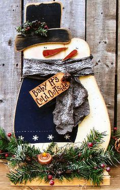 Wood Baby it's Cold Outside Snow Couple, Snowmen & Frosty Friends Craft