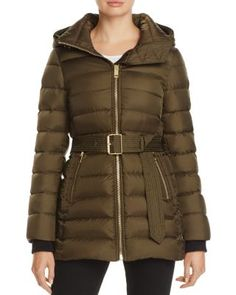 Burberry Limefield Belted Down Puffer Coat - Exclusive Women - Bloomingdale's Best Winter Jackets, Warm Down, Down Puffer Coat, Coats For Women, Ladies Coats, Burberry, Lady, Long Sleeve, How To Wear