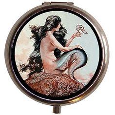 Beautiful Nouveau Mermaid Edwardian Pill Box <3 Click the VISIT button for detailed description