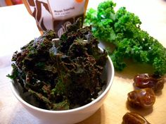 Are you effing serious? --> Oh yes I did ... brownie batter kale chips!  :-)