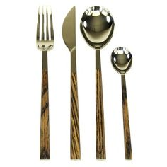 Shop for Red Vanilla Queen Sushi 24-Piece Simulated-Wenge-Wood Flatware Set. Get free delivery at Overstock.com - Your Online Kitchen