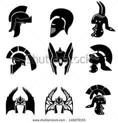 stock-vector-medieval-knight-helmets-vector-illustration-146079155.jpg (450×470)