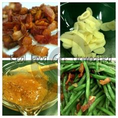 Apricot Glazed Haricots Verts with Bacon (Organic)   RealFoodGirl:Unmodified