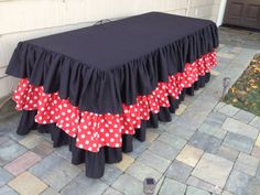 Minnie Mouse Inspired Ruffle Tablecloth by CandyCrushEvents