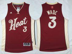 NBA Miami Heat #3 Dwyane Wade Revolution 30 Swingman 2015 Christmas Day Red