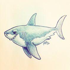 http://yoquepinto.blogspot.com.es/ #sketch #illustration #shark