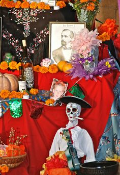 Well, if you're going to smoke, this would be a good time to do it....Day of the Dead Altar with offerings - Smoking Dead